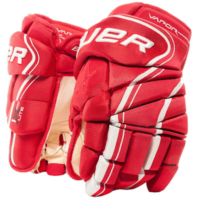 Red (Bauer Vapor 1X Lite Pro Hockey Gloves - Senior)