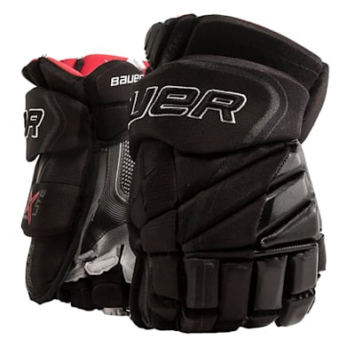 Black (Bauer Vapor 1X Lite Hockey Gloves - Junior)