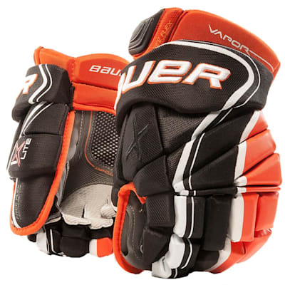Black/Orange (Bauer Vapor 1X Lite Hockey Gloves - Junior)