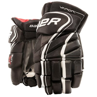 Black/White (Bauer Vapor 1X Lite Hockey Gloves - Junior)