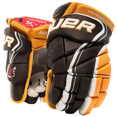 Black/Gold (Bauer Vapor 1X Lite Hockey Gloves - Senior)