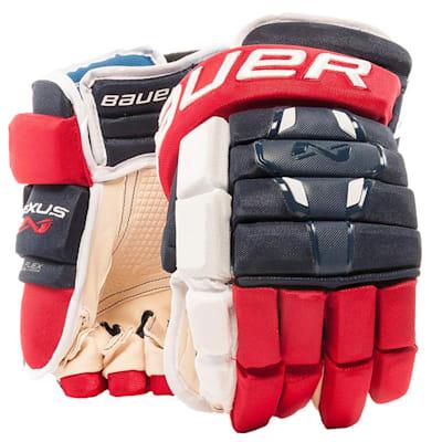 Navy/Red/White (Bauer Nexus 2N Hockey Gloves - Senior)