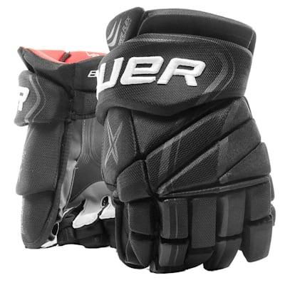 Black (Bauer Vapor X900 Lite Hockey Gloves - Junior)