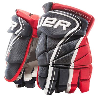 Navy/Red/White (Bauer Vapor X900 Lite Hockey Gloves - Junior)