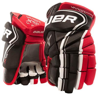 Black/Red (Bauer Vapor X900 Lite Hockey Gloves - Junior)