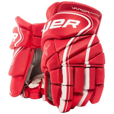 Red (Bauer Vapor X900 Lite Hockey Gloves - Junior)