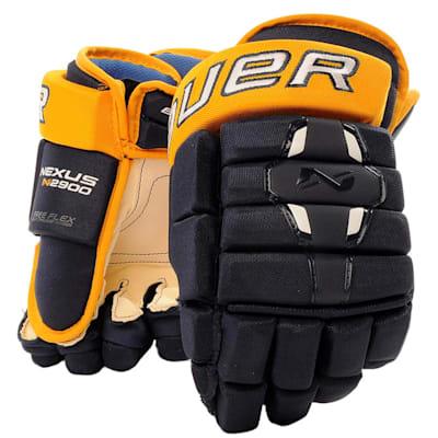 Navy/Gold (Bauer Nexus N2900 Hockey Gloves - Junior)