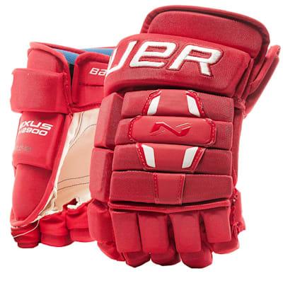 Red (Bauer Nexus N2900 Hockey Gloves - Senior)