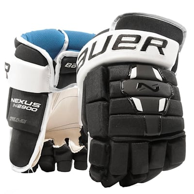 Black/White (Bauer Nexus N2900 Hockey Gloves - Senior)