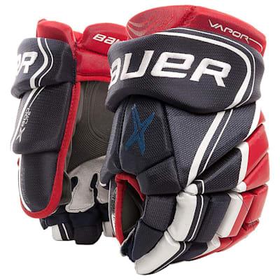 Navy/Red/White (Bauer Vapor X800 Lite Hockey Gloves - Junior)