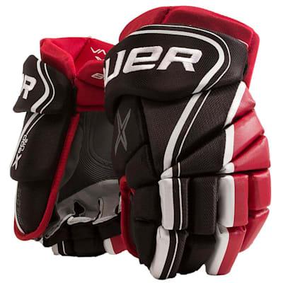 Black/Red (Bauer Vapor X800 Lite Hockey Gloves - Junior)