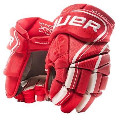 Red (Bauer Vapor X800 Lite Hockey Gloves - Junior)