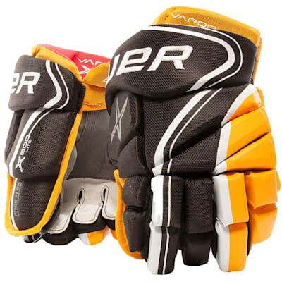 Black/Gold (Bauer Vapor X800 Lite Hockey Gloves - Junior)