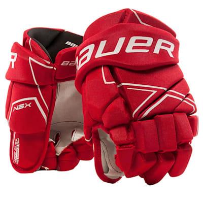 Red (Bauer NSX Hockey Gloves - Junior)