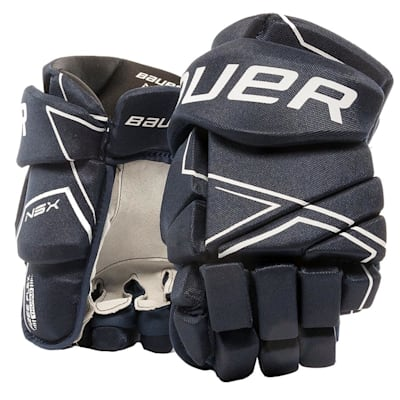 Navy (Bauer NSX Hockey Gloves - Senior)