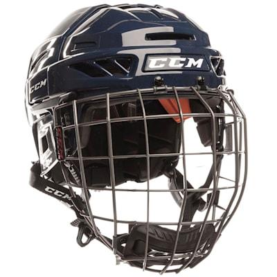 Navy/Navy (CCM Fitlite FL90 Hockey Helmet Combo)
