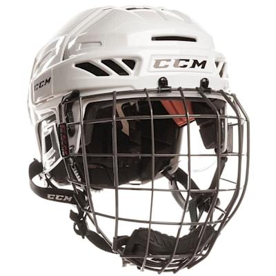 White/White (CCM Fitlite FL90 Hockey Helmet Combo)