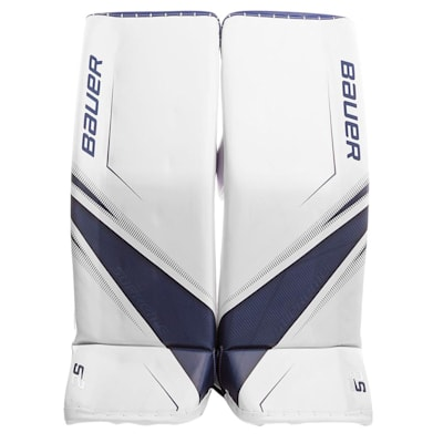 White/Blue (Bauer Supreme 2S Pro Goalie Leg Pads - Senior)