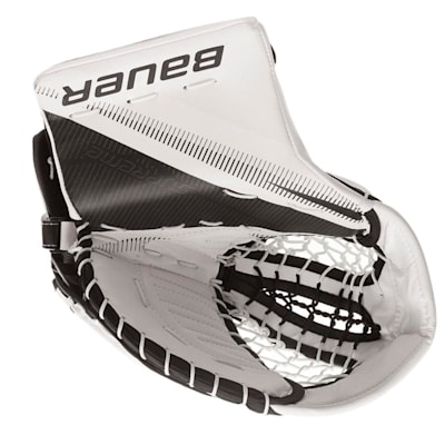 White/Black (Bauer Supreme 2S Pro Goalie Catch Glove - Senior)
