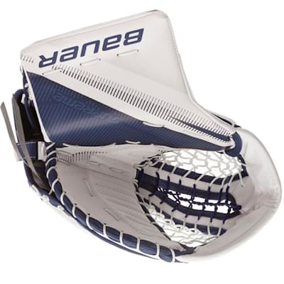 White/Blue (Bauer Supreme 2S Pro Goalie Catch Glove - Senior)