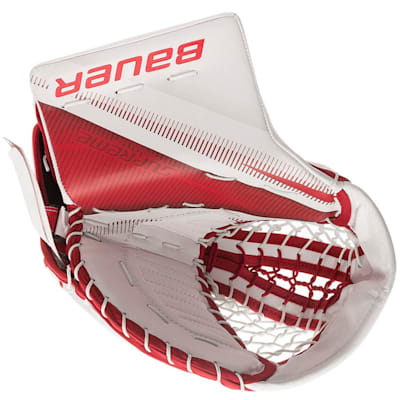 White/Red (Bauer Supreme 2S Pro Goalie Catch Glove - Senior)