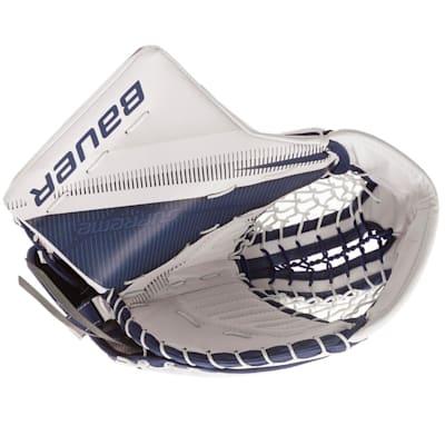 White/Blue (Bauer Supreme 2S Pro Goalie Catch Glove - Senior)