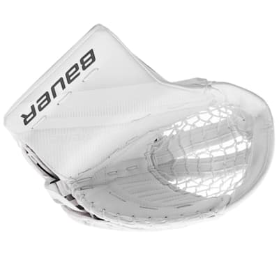 White/White (Bauer Supreme 2S Pro Goalie Catch Glove - Senior)