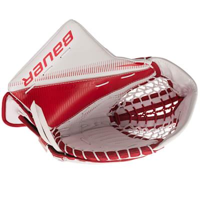 White/Red (Bauer Supreme S29 Goalie Catch Glove - Intermediate)
