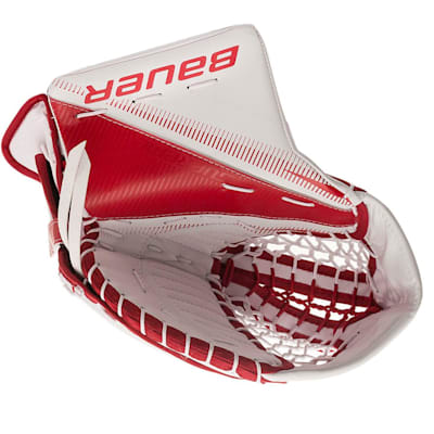 White/Red (Bauer Supreme S29 Goalie Catch Glove - Senior)