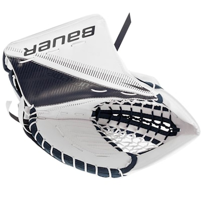 White/Navy (Bauer Supreme S29 Goalie Catch Glove - Senior)