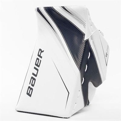 White/Navy (Bauer Supreme S29 Goalie Blocker - Intermediate)