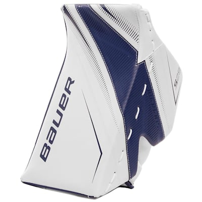 White/Blue (Bauer Supreme S29 Goalie Blocker - Senior)