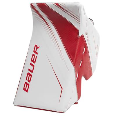 White/Red (Bauer Supreme S29 Goalie Blocker - Senior)