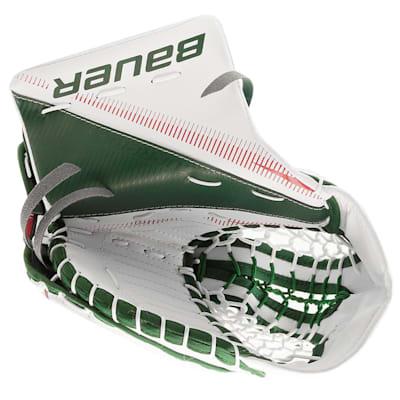 White/Red/Green (Bauer Supreme S27 Catch Glove - Junior)