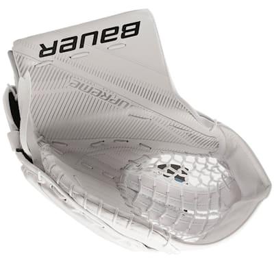 White/White (Bauer Supreme S27 Goalie Catch Glove - Junior)