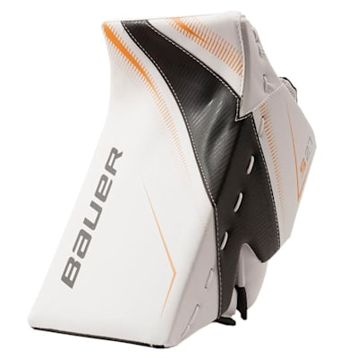 White/Black/Gold (Bauer Supreme S27 Goalie Blocker - Junior)