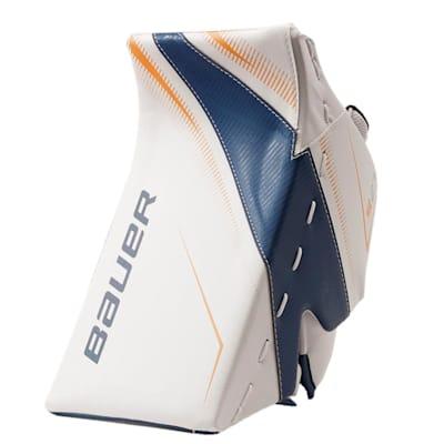 White/Blue/Gold (Bauer Supreme S27 Goalie Blocker - Junior)