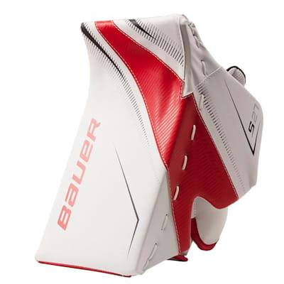 White/Red/Black (Bauer Supreme S27 Goalie Blocker - Junior)