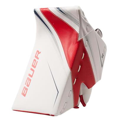 White/Red/Blue (Bauer Supreme S27 Goalie Blocker - Junior)