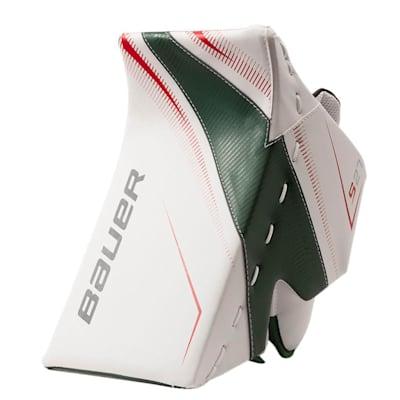 White/Red/Green (Bauer Supreme S27 Goalie Blocker - Junior)