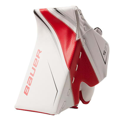 White/Red/Black (Bauer Supreme S27 Goalie Blocker - Senior)