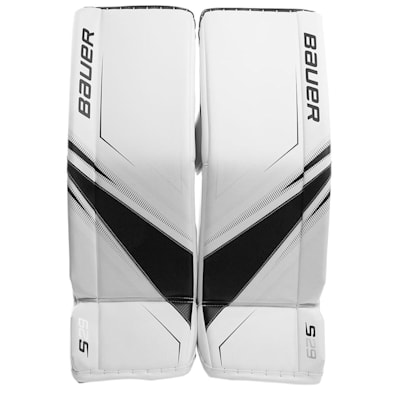 White/Black (Bauer Supreme S29 Goalie Leg Pads - Intermediate)