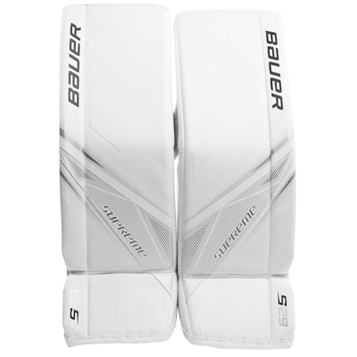 White/White (Bauer Supreme S29 Goalie Leg Pads - Intermediate)