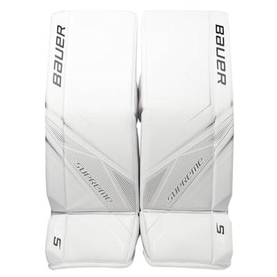 White/White (Bauer Supreme S27 Goalie Leg Pads - Senior)