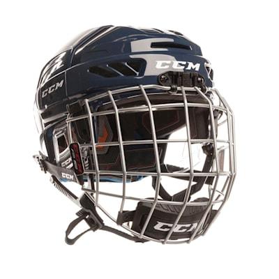 Navy (CCM Fitlite 3DS Junior Hockey Helmet Combo - Junior)