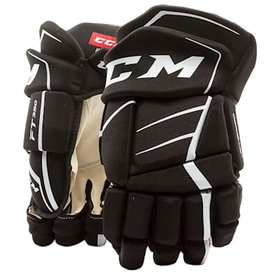 Black/White (CCM JetSpeed FT350 Hockey Gloves - Junior)