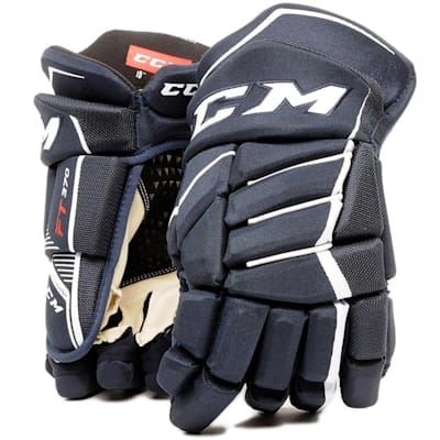 Navy/White (CCM JetSpeed FT370 Hockey Gloves - Junior)