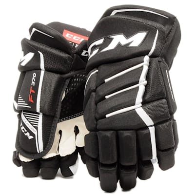 Black/White (CCM JetSpeed FT370 Hockey Gloves - Senior)