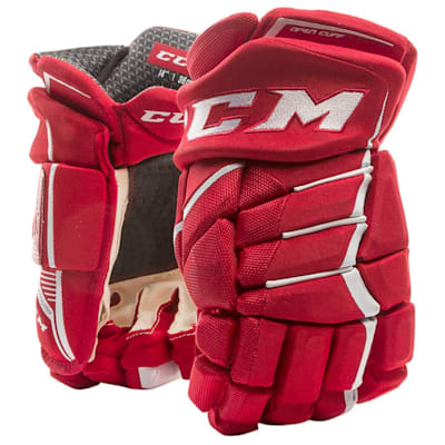 Red/White (CCM JetSpeed FT390 Hockey Gloves - Junior)