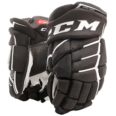 Black/White (CCM JetSpeed FT390 Hockey Gloves - Junior)